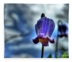 Sugarbowl Leather Flower Fleece Blanket