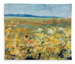 Suggestion Of Flowers Fleece Blanket