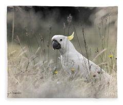 Sulphur Crested Cockatoo Fleece Blanket
