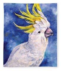 Sulphur-crested Cockatoo Fleece Blanket