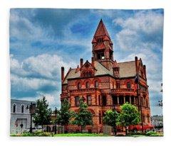 Sulphur Springs Courthouse Fleece Blanket