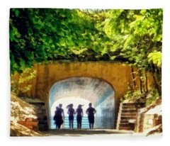 Summer At Tunnel Park Fleece Blanket