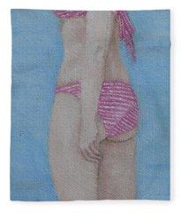 Summer Beach Fleece Blanket