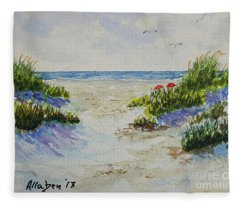 Summer Beach Fleece Blanket