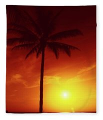 Summer By The Sea Fleece Blanket