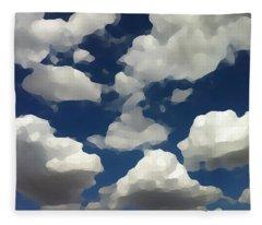 Summer Clouds In A Blue Sky Fleece Blanket