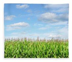 Summer Cornfield Fleece Blanket
