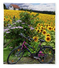 Summer Cycling Fleece Blanket