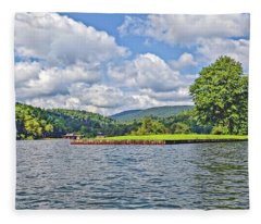 Summer Day At The Lake Fleece Blanket