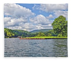 Summer Day At The Lake Fleece Blanket