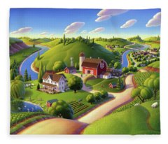 Summer Days Fleece Blanket