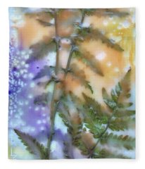 Summer Ferns Fleece Blanket