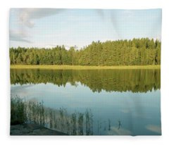 Summer Finland Archipelago Fleece Blanket