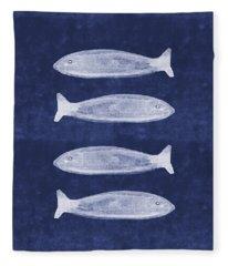 Summer Fish- Art By Linda Woods Fleece Blanket