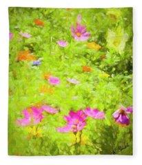 Summer Flowers Fleece Blanket