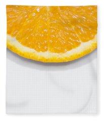 Summer Fruit Orange Slice On Studio Copyspace Fleece Blanket