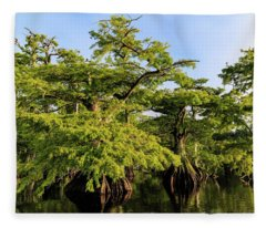 Summer Greens Fleece Blanket