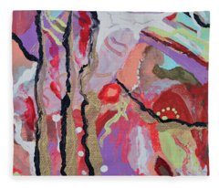 Longing For Summer Heat Fleece Blanket