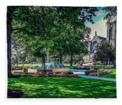 Summer In Juckett Park Fleece Blanket