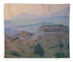 Summer In The Badlands Fleece Blanket