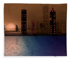 Summer In The City Fleece Blanket