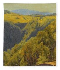 Summer In The Hills Fleece Blanket