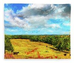 Summer Interlude -missouri Art Fleece Blanket