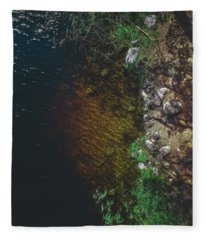 Summer Lake - Aerial Photography Fleece Blanket