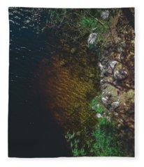 Summer Lake - Aerial Photography Fleece Blanket