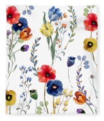 Summer Linen Fleece Blanket