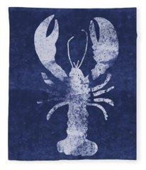 Summer Lobster- Art By Linda Woods Fleece Blanket