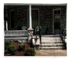 Summer Porch Fleece Blanket