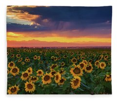 Summer Radiance Fleece Blanket