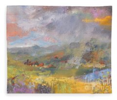 Summer Rain Fleece Blanket