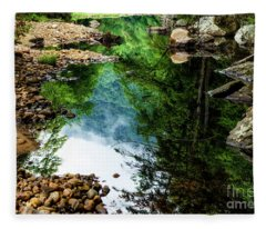 Summer Reflection Williams River  Fleece Blanket