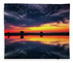Summer Rises Fleece Blanket