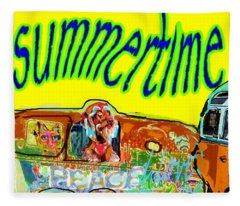Summer Roadtrips Fun  Fleece Blanket