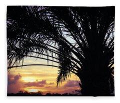 Summer Silhouette Fleece Blanket