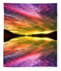 Summer Skies At Skaha Fleece Blanket