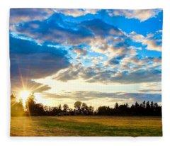 Summer Skies Fleece Blanket