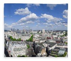 Summer Skies Over London Fleece Blanket