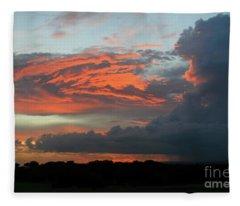 Summer Sky On Fire  Fleece Blanket
