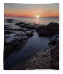 Summer Solstice, Halibut Pt. Fleece Blanket
