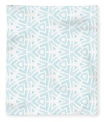 Aqua Digital Art Fleece Blankets