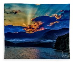 Summer Sundown Fleece Blanket