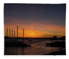 Summer Sunrise In Bar Harbor Fleece Blanket