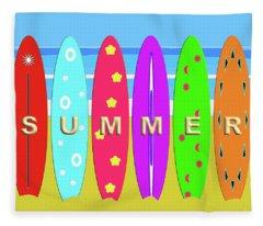 Summer Surf Fleece Blanket