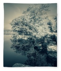 Summer Time Blues Fleece Blanket