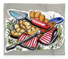 Summer Tools Fleece Blanket