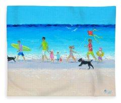 Summer Vacation Time Fleece Blanket